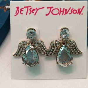 Betsey Johnson angel earrings